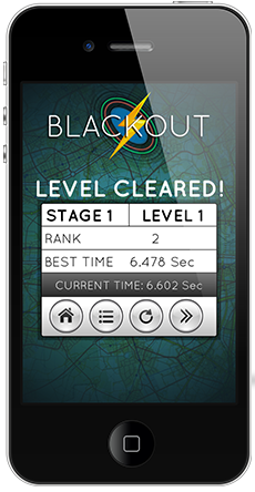Blackout Mobile iOS game for Apple App Store on iPhone iPad iPod Touch