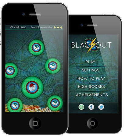 Blackout Mobile iOS game for Apple iPhone iPad iPod Touch
